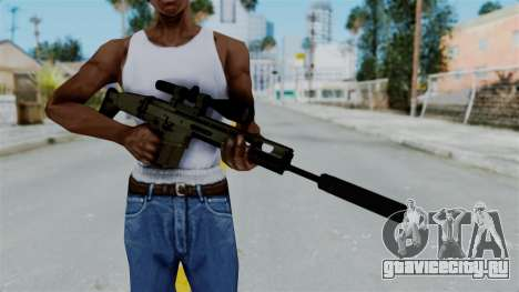 SCAR-20 v1 Supressor для GTA San Andreas третий скриншот