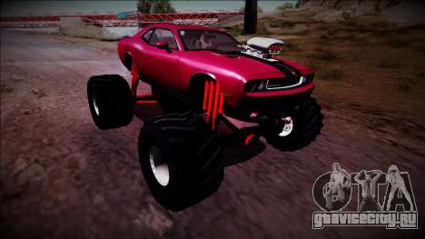 2009 Dodge Challenger SRT8 Monster Truck для GTA San Andreas