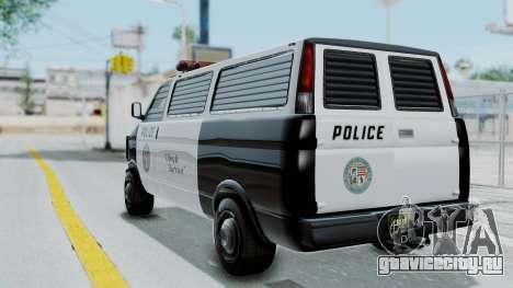GTA 5 Declasse Burrito Police Transport IVF для GTA San Andreas вид слева