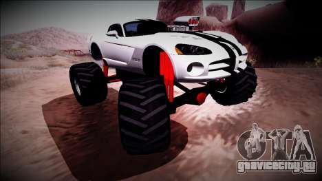 Dodge Viper SRT10 Monster Truck для GTA San Andreas вид изнутри