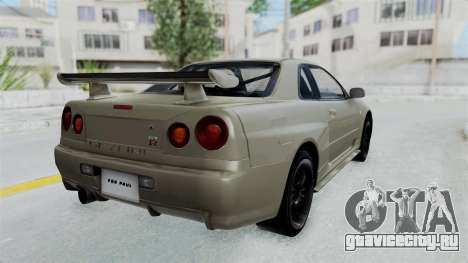 Nissan Skyline GT-R R34 2002 F&F4 Damage Parts для GTA San Andreas вид слева