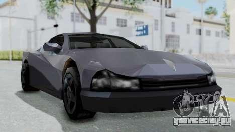 GTA LCS Cheetah для GTA San Andreas вид сзади слева