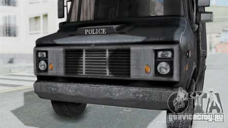 Полицейский фургон из RE Outbreak для GTA San Andreas вид справа
