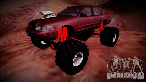 2003 Ford Crown Victoria Monster Truck для GTA San Andreas вид сверху