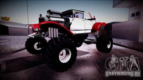 GTA 5 Albany Franken Stange Monster Truck для GTA San Andreas вид изнутри