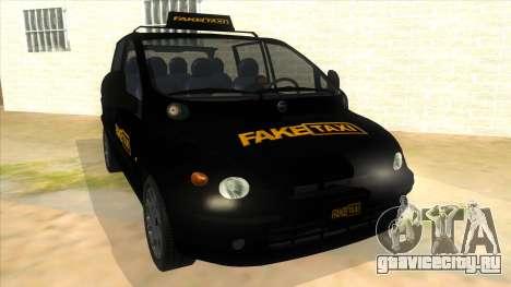 Fiat Multipla FAKETAXI для GTA San Andreas вид сзади