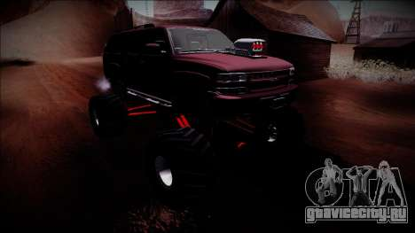 2003 Chevrolet Suburban Monster Truck для GTA San Andreas вид сбоку