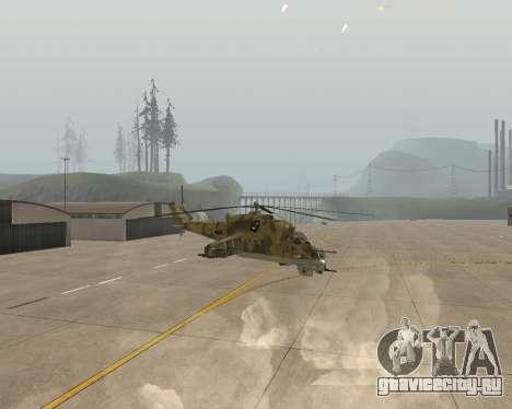 Ми 24 В Крокодил для GTA San Andreas вид справа