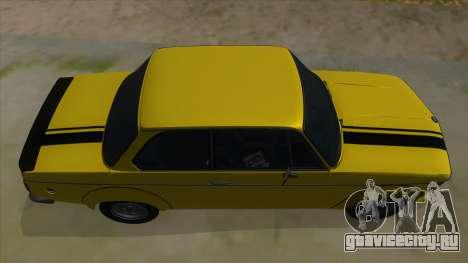 1974 BMW 2002 turbo v1.1 для GTA San Andreas вид сбоку