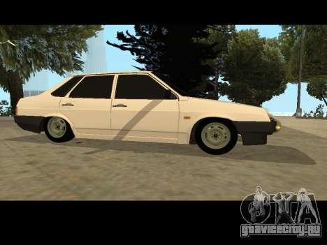 Ваз 21099 Без Посадки Авто Net для GTA San Andreas вид слева