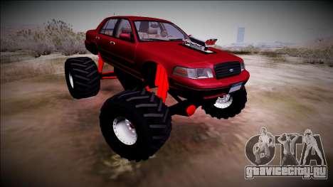 2003 Ford Crown Victoria Monster Truck для GTA San Andreas вид сзади