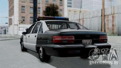 Chevrolet Caprice 1991 CRASH Division для GTA San Andreas вид слева