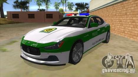 Maserati Iranian Police для GTA San Andreas