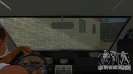Nissan X-Trail 4x4 Dirty by Greedy для GTA San Andreas вид изнутри