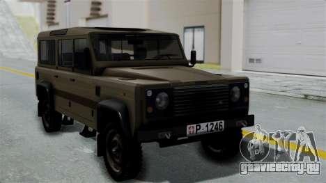 Land Rover Defender Vojno Vozilo для GTA San Andreas
