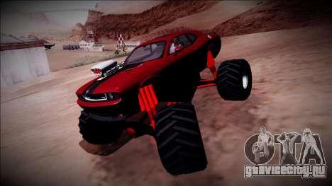 2009 Dodge Challenger SRT8 Monster Truck для GTA San Andreas вид сбоку