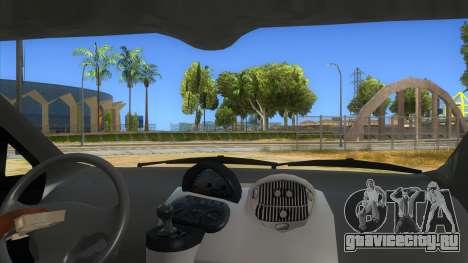 Fiat Multipla FAKETAXI для GTA San Andreas вид изнутри