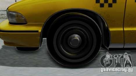 Chevrolet Caprice 1991 Taxi для GTA San Andreas вид сзади слева