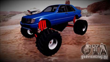 Mercedes-Benz W140 Monster Truck для GTA San Andreas вид изнутри