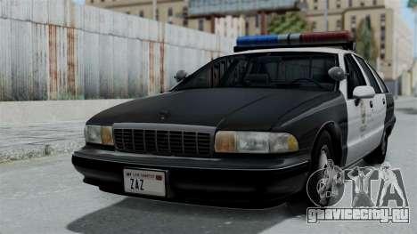Chevrolet Caprice 1991 CRASH Division для GTA San Andreas