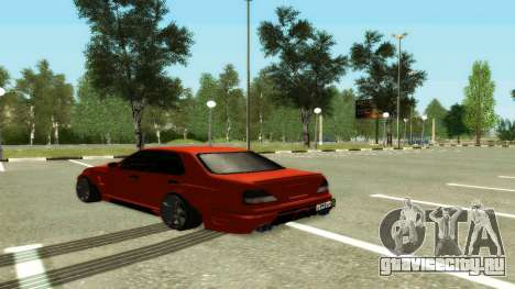 Nissan Cedric WideBody для GTA San Andreas вид сзади слева