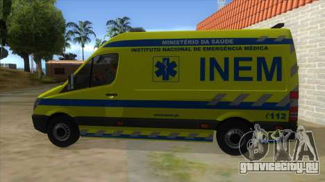 Mercedes-Benz Sprinter INEM Ambulance для GTA San Andreas вид слева