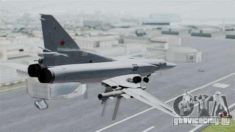 ТУ-22М3 для GTA San Andreas вид слева