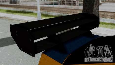 GTA 5 Karin Sultan RS Drift Big Spoiler для GTA San Andreas вид сзади