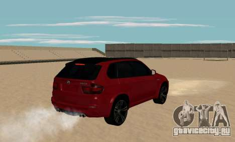 BMW X5M 2011 для GTA San Andreas вид сзади слева