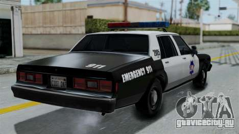 Chevrolet Impala 1985 SFPD для GTA San Andreas вид слева