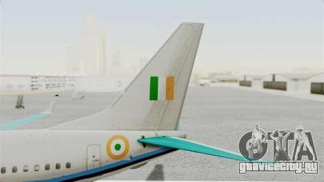 Boeing 737-800 Business Jet Indian Air Force для GTA San Andreas вид сзади слева