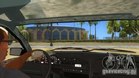 ВАЗ 2113 перевертыш для GTA San Andreas вид изнутри