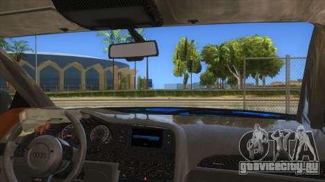 Audi RS6 Blue Star Badgged для GTA San Andreas вид изнутри