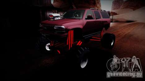 2003 Chevrolet Suburban Monster Truck для GTA San Andreas вид снизу