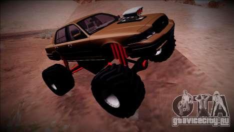 2003 Ford Crown Victoria Monster Truck для GTA San Andreas вид изнутри