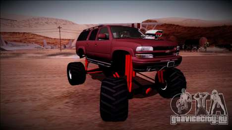 2003 Chevrolet Suburban Monster Truck для GTA San Andreas вид изнутри