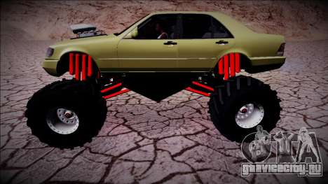 Mercedes-Benz W140 Monster Truck для GTA San Andreas вид сзади слева