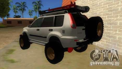 Nissan X-Trail 4x4 Dirty by Greedy для GTA San Andreas вид сзади слева
