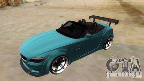 BMW Z4 Liberty Walk Performance для GTA San Andreas вид сверху
