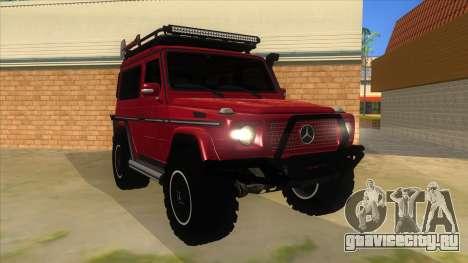 Mercedes-Benz G500 Off Road V3.0 для GTA San Andreas вид сзади