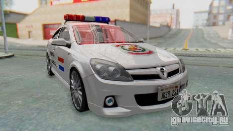 Opel-Vauxhall Astra Policia для GTA San Andreas вид сзади слева