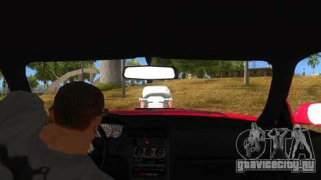 Nissan Skyline R33 Monster Truck для GTA San Andreas вид изнутри