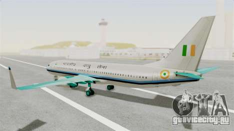 Boeing 737-800 Business Jet Indian Air Force для GTA San Andreas вид слева