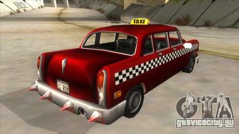 GTA3 Borgnine Cab для GTA San Andreas вид сзади слева