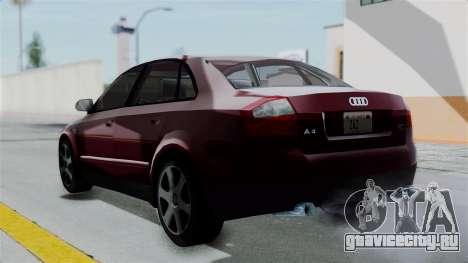 Audi A4 для GTA San Andreas вид слева