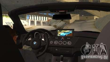 BMW Z4 Liberty Walk Performance для GTA San Andreas вид изнутри