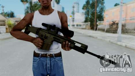 SCAR-20 v1 No Supressor для GTA San Andreas третий скриншот