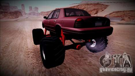 2003 Ford Crown Victoria Monster Truck для GTA San Andreas вид слева