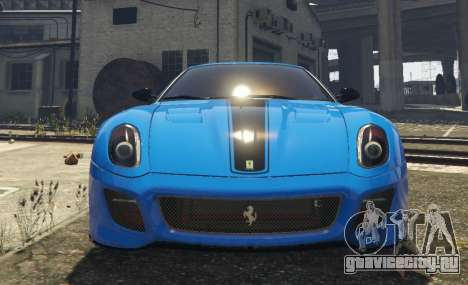 Ferrari 599 GTO[Replace] для GTA 5 вид сзади