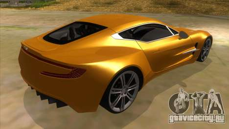 Aston Martine One-77 2010 Autovista для GTA San Andreas вид справа
